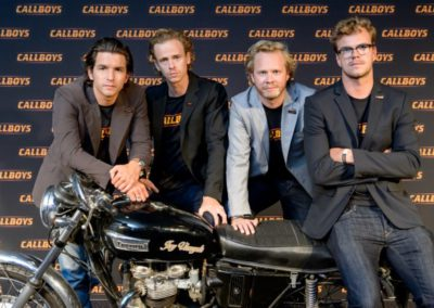 Matteo Simoni, Stef Aerts, Bart Hollanders en Rik Verheye Foto: Maarten De Bouw